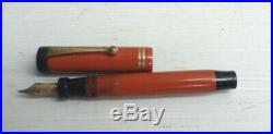 Vintage Parker Duo-Fold Red Fountain Pen Duofold