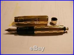 Vintage Parker Duofold 18k R Gold Filled Fountain Pen Pat Ser 5-16 (large Size)