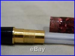 Vintage Parker Duofold Centennial 18k NIB Marble Burgundy Pearl Fountain Pen