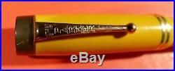 Vintage Parker Duofold Deluxe Senior Streamline Mandarin fountain pen