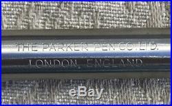 Vintage Parker Duofold Fountain Pen, Black, 14k Gold Nib, Broad
