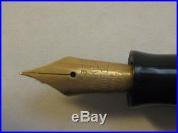 Vintage Parker Duofold Fountain Pen Burgundy Black Marble button filler 1930s