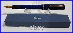 Vintage Parker Duofold Fountain Pen Lapis Blue MINT in Original Box Circa 1920's