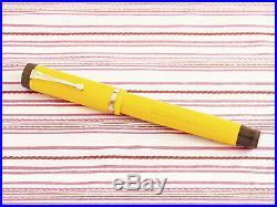 Vintage Parker Duofold Senior Lucky Curve Mandarin Yellow Flat-top Fountain Pen