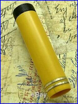 Vintage Parker Fountain Pen Duofold Junior Mandarin Yellow 14k Fine Nib