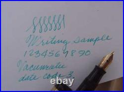 Vintage Parker Golden Brown Laminate Vacumatic Fountain Pen Date 3. Restored