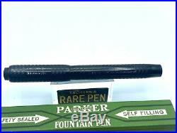 Vintage Parker Jack-Knife Safety 25 1/2 BCHR Turban Top Fountain Pen 5.5 RARE
