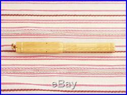 Vintage Parker Lucky Curve Gold Brick Chevron Overlay Eyedropper Fountain Pen