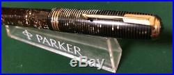 Vintage Parker Major Vacumatic DJ Fountain Pen Grey Pearl Lock Down Filler Unit
