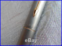 Vintage Parker Pen Fountain Pen T-1 Titanium Double Jeweled S IS #264-C