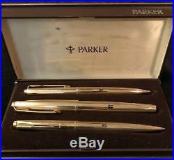 Vintage Parker Rolls Royce Gold Three Pen set
