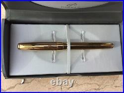 Vintage Parker Sonnet Pen Athens 23 K Gold Plate, Black Stripes