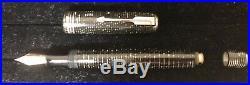 Vintage Parker Vacumatic DJ Fountain Pen in Grey Pearl LockDown Filler Unit