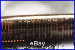 Vintage Parker Vacumatic Fountain Pen Brown 14k Gold F Nib
