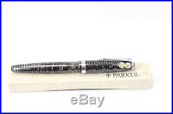 Vintage Parker Vacumatic Fountain Pen SILVER PEARL STICKERED Mint Works Box