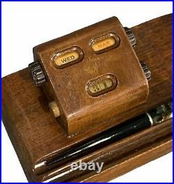 Vintage Parker Vacumatic Seal-O-Matic Fountain Pen Calendar Desk Set