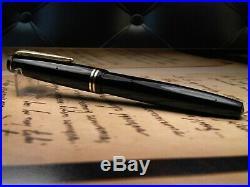 Vintage Parker Victory MK IV Fountain Pen-Navy Blue-14K Nib-England 1948-1952