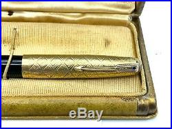 Vintage RARE First Year PARKER 51 Fountain pen 14K Solid Gold Prototype Cap