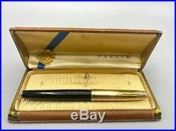 Vintage Rare DJ PARKER 51 Fountain pen EMPIRE 14K SOLID GOLD Cap FLAWLESS Boxed