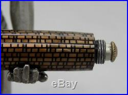 Vintage Serviced First Gen Parker Vacumatic Golden Web Fountain Pen with 14k Nib