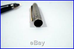 Vintage Sterling Silver Parker 75 Cisele Fountain Pen 14K Nib USA B413