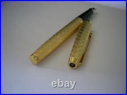 Vintage Stylo plume Plaqué Or Parker 35 Guirlande GP Fontain Pen