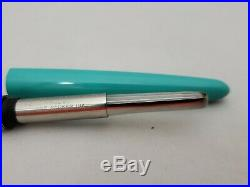 Vintage Turquoise Blue Parker 41 Fountain Pen/ Pen Set 1950s Aeromatic Fill New