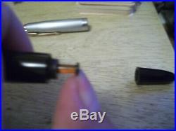 Vintage UNRESTORED Parker 51 Fountain Pen with Sterling Silver Cap + Original Case
