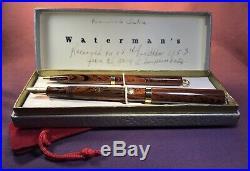 Vintage Waterman Ideal Fountain Pen #52 1/2v- Super-flex-red Ripple-18k Gf