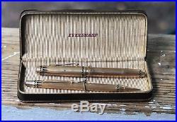Vintage coronet pen/pencil set with case