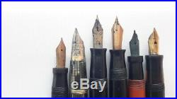 Vintage lot of fountain pens for parts or repair. Parkers Sheaffers Eversharp