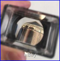 Vtg Parker 51 Fountain Pen Jet Black Double Jewel Solid 14k Gold Trim Restored