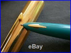 Vtg Parker 61 / Turquoise / Gf Cap / USA 60's / Capillary Filler / Near Mint