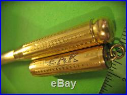 Vtg Telescoping U. S. Fountain Pen Co. Patented June 24 1919 Victor 14K flex nib